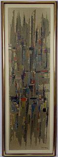 Abdelkader Guermaz (Algerian French, 1919ヨ1996) Arab Modern painting