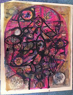 Avinash Chandra Indian British Modern Painting 1960's