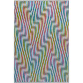 "Bridget Riley, English (b-1931) Colored Screen Print ""Elapse"" Pencil Signed and Titled"