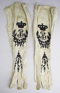 Pair Of 19Th C. Victorian Kid Leather Ladies Gloves