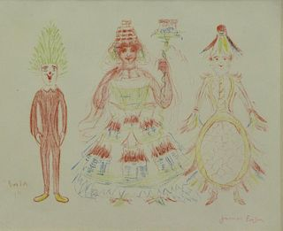 "ENSOR, James. Color Lithograph. ""Le Sapin, La"