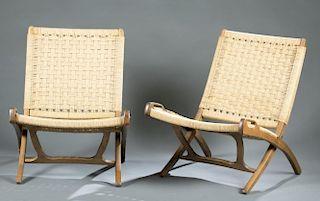 Pair Hans J. Wegner folding chairs