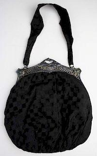 Ca. 1920 Sterling Silver Reticulated Frame Handbag Purse