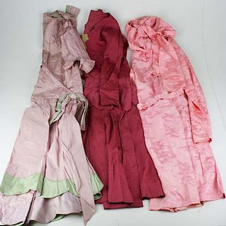 3 1930'S-1940'S Gowns Incl. Dusty Rose Colored Satin Dress