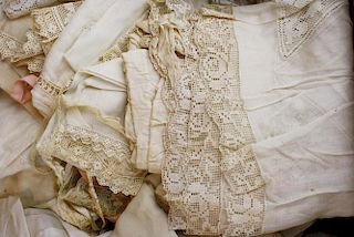 Group Of Ca. 1915 Edwardian Era Lingerie Garments Incl.