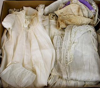 Lot Of Victorian Era White Baby And Child'S Clothing Incl.