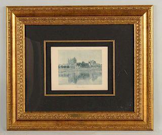 After Claude Monet L'Eglise de Vernon.