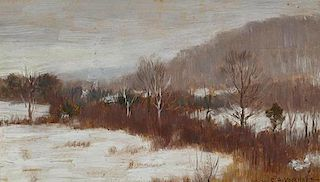 Clark Greenwood Voorhees (1871-1933) Snow in Lenox, Mass.