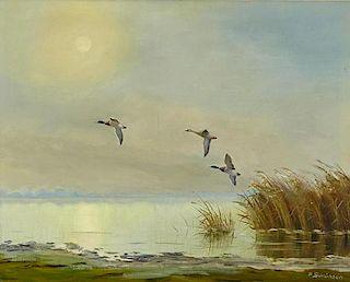 Peter Schlunsen (German, 20th Century) Mallards