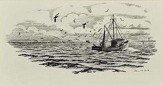 John Henry Dick (1919-2005) Three Drawings