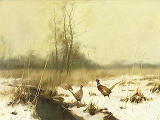 Manfred Schatz (1925-2004) Pheasants