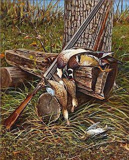 Owen J. Gromme (1896-1991) Wood Ducks, Teal, and Snipe
