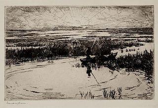 Frank W. Benson (1862-1951) Sunrise