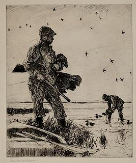 Frank W. Benson (1862-1951) Winter Wildfowling