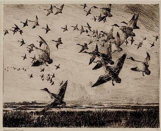 Frank W. Benson (1862-1951) Morning Flight