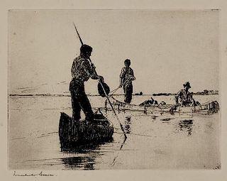 Frank W. Benson (1862-1951) Two Canoes