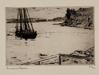 Frank W. Benson (1862-1951) The Anchorage