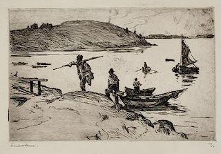 Frank W. Benson (1862-1951) The Landing