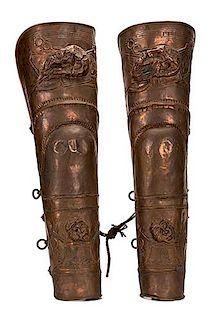 "Pair of Charioteer Leg Guards Used in ""Ben-Hur."""