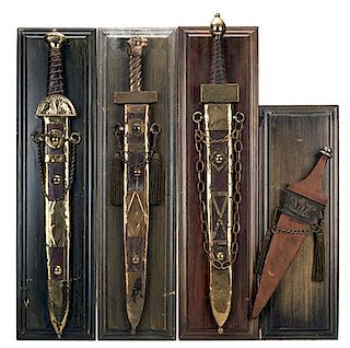 "Group of Four Swords Used in ""Ben-Hur."""