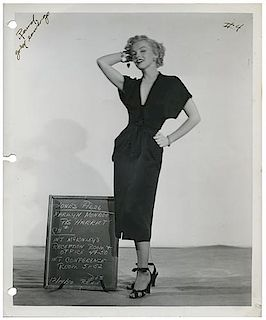 Group of Five Vintage Marilyn Monroe Portrait and Costume Test Photographs.