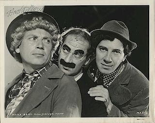 The Marx Brothers Publicity Still Signed by Groucho, Harpo, and Chico.