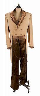 Hugh O'Brian Tailcoat, Cummerbund, and Pants, Likely Worn as Wyatt Earp.
