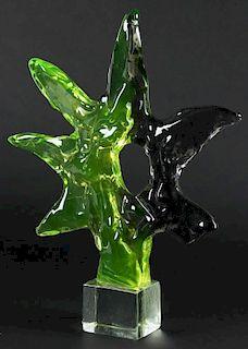 Livio Seguso (Italian, b. 1930) Abstract Glass Sculpture
