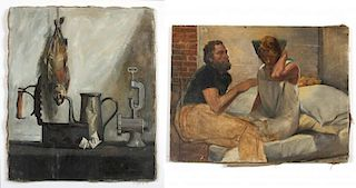 Two Works by Unidentified 20th C. Artists