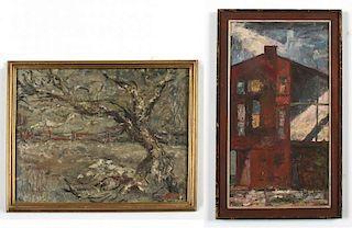 2 American School Paintings
