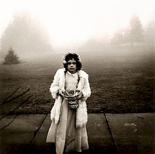 Diane Arbus, (American, 1923-1971), A Flower Girl at a Wedding, Conn., 1964