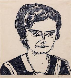 * Max Beckmann, (German, 1884-1950), Bildnis Frau H. M. (Naila), 1923