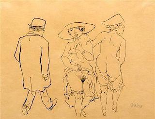 * George Grosz, (German, 1893-1959), Promenade, 1922