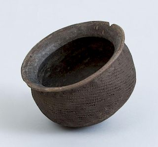 NEOLITHIC GRAY POTTERY VESSEL