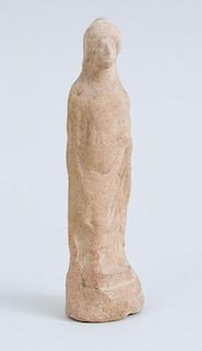 CYPRIOT TERRACOTTA FIGURE OF A NOBLE LADY