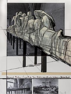 Christo and Jeanne-Claude, (American, b. 1935), Wrapped Statues, 1988 (from the Official Arts Portfolio of the XXIVth Olympiad,