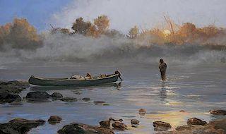 Luke Frazier (b. 1970) Mists of the Miramichi