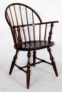 Single Windsor back armchair