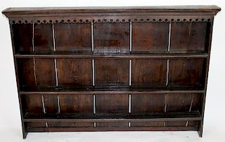 English wall mount plate rack