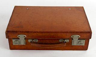 Miniature leather briefcase