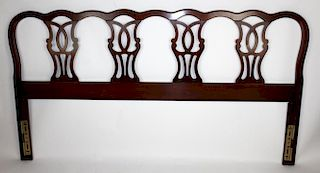 Mahogany Chippendale queen size headboard
