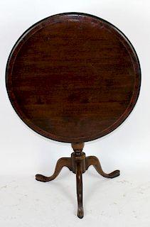 English mahogany tilt top table