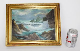 Oil on artist board of Seascape