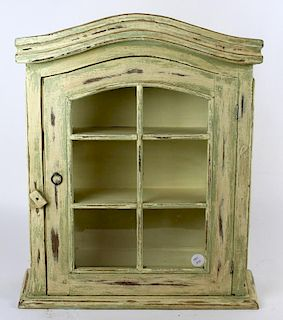 Vintage painted spice cabinet