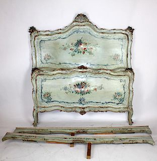 19th century painted Venetian bed