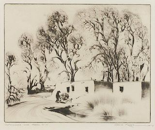Gene Kloss 1903 - 1996 NA | Cottonwoods and Adobe, 1937