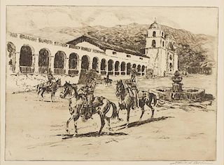 Edward Borein 1872 - 1945 | Mission Santa Barbara No. 2