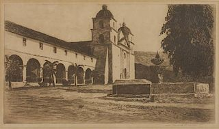 Edward Borein 1872 - 1945 | Mission Santa Barbara No. 3