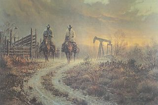 G. Harvey b. 1933 | Ranching Pump Jack Style