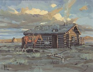 Fred Fellows b. 1934 CAA | Cabin in the Plains